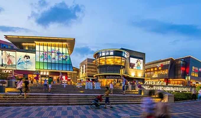 商业与自然的融合——品松山湖畔万科生活广场商业空间设计