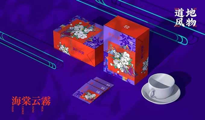 亮眼的插画风设计茶叶包装