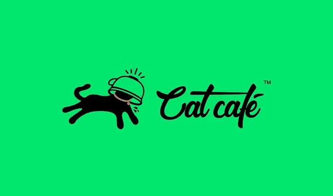 黑绿配色的猫咖品牌设计,从视觉上就带来治愈心情!